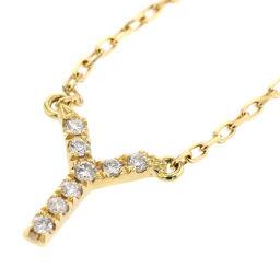 アーカー AHKAH ヴィヴィアンクチュール イニシャル Y 0.03ct ネックレス  K18イエローゴールド/ダイヤモンド ダイヤモンド0.03ct ゴールド レディース K81123599