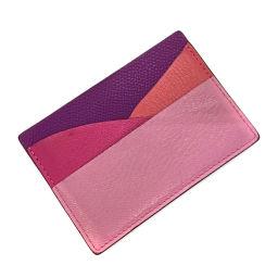 エルメス HERMES プティアッシュ カバ パスケース カードケース  ヴォーエプソン ピンク レディース K81123770