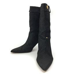 クリスチャンディオール Christian Dior デニム 24.5cm ブーツ  デニム インディゴブルー レディース K81128310