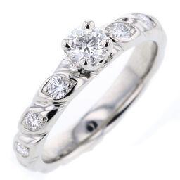 ショーメ Chaumet トルサード マリッジ 7P ダイヤモンド リング・指輪  プラチナPT950/ダイヤモンド 9号 シルバー レディース K81128819