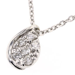 スタージュエリー STAR JEWELRY ペアシェイプ  0.06ct ネックレス  K10ホワイトゴールド/ダイヤモンド ダイヤモンド0.06ct シルバー レディース K81223097