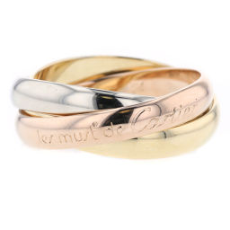 カルティエ CARTIER トリニティ  リング・指輪  K18ホワイトゴールド/K18イエローゴールド/K18ピンクゴールド 14号 ゴールド レディース K90112646