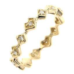 ARK AHKAH 0.110ct Heart Ring & Ring K18 Yellow Gold / Diamond Diamond 0.11ct 8.5 Gold Ladies K90212284