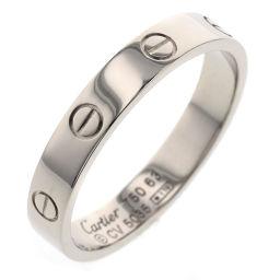 カルティエ CARTIER ミニラブ ウェディング 4mm リング・指輪  K18ホワイトゴールド 23号 シルバー メンズ K90213049