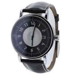 モンブラン MONTBLANC サミット 黒文字盤  腕時計  ステンレススチール/レザー ブラック メンズ K90223160