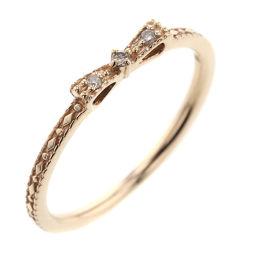 Noges NOJESS Ribbon 0.02ct Ring / Ring K10 Pink Gold / Diamond Diamond No. 9 Gold Women K90223225