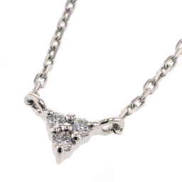 Ete ete triangle 3P necklace platinum PT850 / diamond diamond silver women K90323592