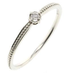 アガット agete ダイヤ 0.03ct リング・指輪  K10ホワイトゴールド/ダイヤモンド ダイヤモンド0.03ct 11号 レディース K90323598