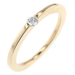 Ete ete single grain No. 9 ring ・ ring K18 yellow gold / diamond diamond 0.08ct No. 9 gold women K90323645