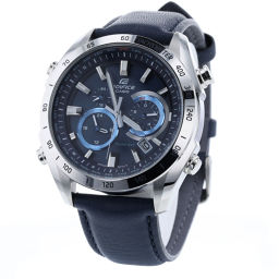 カシオ CASIO ソーラー 腕時計 EQW-T620  ステンレススチール/レザー ネイビー メンズ K90323793