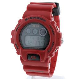 カシオ CASIO シャア専用ザク MS-06S ZAKU   腕時計 DW-6900FS ガンダム30周年記念   SS/ラバー レッド メンズ K90423226