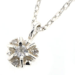 Agat agete 0.03ct necklace 925 silver / diamond / clear stone diamond 0.03ct clear stone silver women K90423336