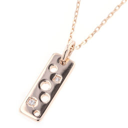 Ete ete plate 2P necklace K10 pink gold / K10 yellow gold / diamond diamond gold women K90423400