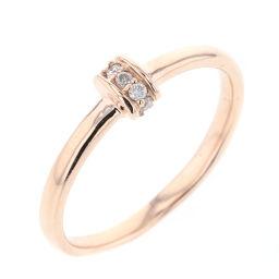 Agat agete No. 11 0.05ct 3P ring / ring K10 pink gold / diamond diamond 0.05ct No. 11 gold women K90423496