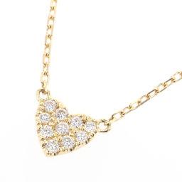 Aker AHKAH Heart Pave 10P 0.05ct Necklace VC0104010100 K18 Yellow Gold / Diamond Diamond 0.05ct Gold Women K90423500
