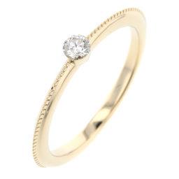 Agat agete No.7 single grain 0.07ct ring / ring K18 yellow gold / diamond diamond 0.07ct No. 7 gold women K90423505