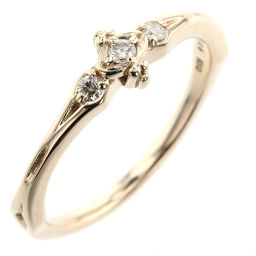 Agat agete Pinky No. 1 baby 0.034ct Rings and rings K10 yellow gold / diamond Diamond 0.034ct No. 1 Gold Women's K90523604
