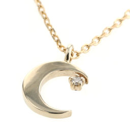 Ette ete crescent star motif necklace K10 yellow gold / diamond diamond gold ladies K90723039