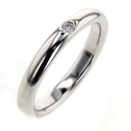 ティファニー TIFFANY&Co. スタッキングバンド 1P 約2.5mm リング・指輪  プラチナPT950/ダイヤモンド ダイヤモンド 10号 シルバー レディース K90723154