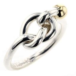 ティファニー TIFFANY&Co. コンビ  フック&アイ リング・指輪  K18YG/SV925 9号 シルバー レディース K90723177