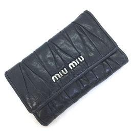 ミュウミュウ MIUMIU マテラッセ 6連  キーケース  レザー ブラック レディース K90731190