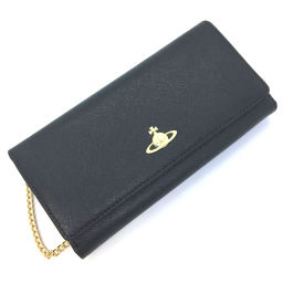 Vivienne Westwood Vivienne Westwood 2WAY chain long wallet calf leather black ladies K90823493