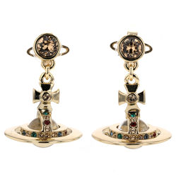 Vivienne Westwood Vivienne Westwood 3D Orb Earrings 1205999333 Brass Gold Ladies K90823543