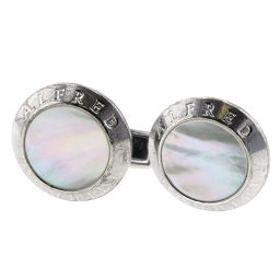 Dunhill Dunhill Round Shell Cufflinks Silver 925 / Shell White Men's K90823691