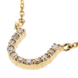 Ette ete horseshoe 0.04ct necklace K18 yellow gold / diamond diamond 0.04ct gold ladies K90823747