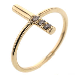 Ete ete Cross 0.07ct Rings & Rings K18 Yellow Gold / Brown Diamond Brown Diamond 0.07ct 13 Gold Women K90823750