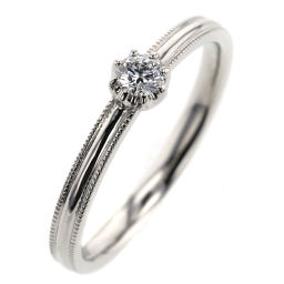 Ete ete 0.114ct ring, ring platinum PT900 / diamond diamond 0.114ct 13 silver ladies K90823764