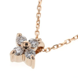 Ette ete Bright 4P 0.05ct Necklace K18 Pink Gold / Diamond Diamond 0.05ct Gold Ladies K90823808
