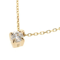 Ete ete Bright 1P 0.06ct Necklace K18 Yellow Gold / Diamond Diamond Gold Ladies K90823928