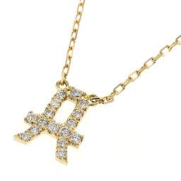 Arcer AHKAH Initial A Pave 0.07ct Necklace K18 Yellow Gold / Diamond Diamond 0.07ct Gold Ladies K90923323