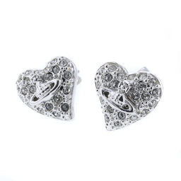 Vivienne Westwood Vivienne Westwood Diamante Heart Orb Earrings Metal Silver Ladies K90923503