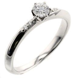 Agat agete 0.186ct 0.02ct ring / ring platinum PT900 / diamond diamond 0.186ct diamond 0.02ct 7 silver ladies K90923534