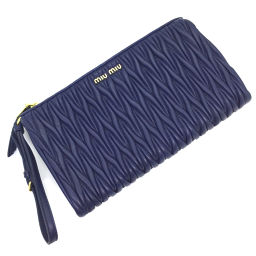 Miu Miu MIUMIU Materasse Clutch Bag 5NE455 Leather BLUETTE Blue Ladies K90923602