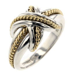 TIFFANY TIFFANY & Co. Signature Combination Ring / Ring Silver 925 / K18 Yellow Gold No.13 Silver Ladies K91023791