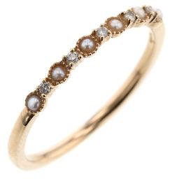Agat agete 0.03ct Ring / Ring K10 Yellow Gold / Diamond / Pearl Diamond 0.03ct Pearl No.11 Gold Ladies K91023944