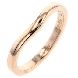 Cartier CARTIER Ballerina Wedding Curve Ring / Ring K18 Pink Gold No. 11 Gold Ladies K91023989