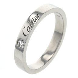 カルティエ CARTIER エングレーブド 1P リング・指輪  プラチナPT950/ダイヤモンド ダイヤモンド 14号 シルバー メンズ K91113138