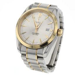 オメガ OMEGA シーマスター アクアテラ 36mm クオーツ 腕時計 2318.30  ステンレススチール/K18イエローゴールド シルバー メンズ K91118477