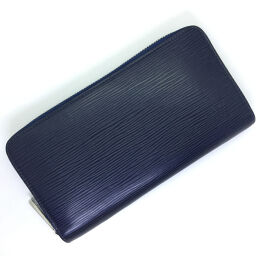Louis Vuitton LOUIS VUITTON Zippy Wallet Long Wallet M61873 Epi Leather Andigo Blue Navy Men's K91123237
