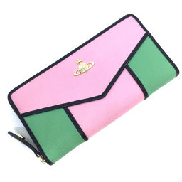 Vivienne Westwood Vivienne Westwood Round Zipper Long Wallet 55VV317 Leather Pink Ladies K91123261