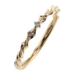 Agat agete 3P 0.03ct Ring / Ring K10 Yellow Gold / Diamond Diamond 0.03ct 11 Gold Ladies K91123322