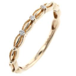 Agat agete Vintage 3P Ring / Ring K10 Yellow Gold / Diamond Diamond 0.02ct 9 Gold Ladies K91123329