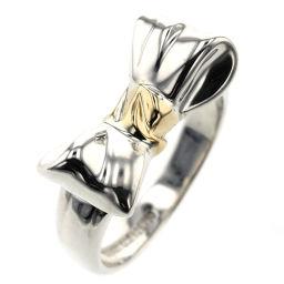 ティファニー TIFFANY&Co. リボン コンビ リング・指輪  シルバー925/K18イエローゴールド 8号 シルバー レディース K91123365