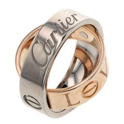 カルティエ CARTIER シークレットラブ リング・指輪  K18ホワイトゴールド/K18ピンクゴールド 5.5号 シルバー レディース K91213520