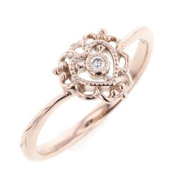 Samantha Tiara Samantha Tiara Diamond 1P 0.02ct Heart Ring / Ring K18 Pink Gold Diamond 0.02ct 7 Gold Ladies R90124004