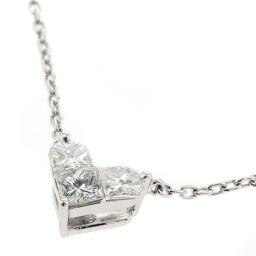 スタージュエリー STAR JEWELRY ミステリアスハート 3P 0.28ct ネックレス  プラチナPT950/ダイヤモンド ダイヤモンド 0.28ct シルバー レディース R90702014-047610